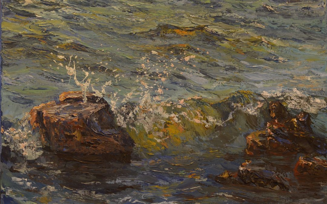 """Izložba slika """"Pogled kroz valove"""" – 15.7.-15.8.2018. galerija sv. Ante, Postira"""