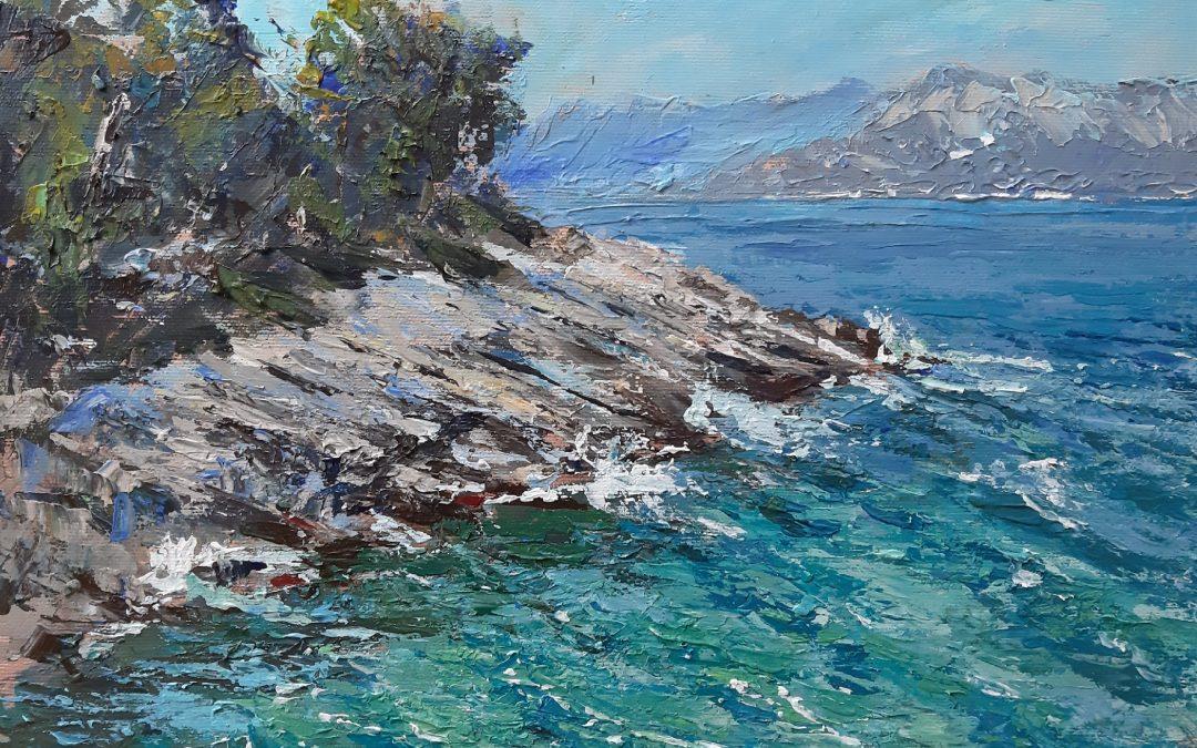 Slikanje u prirodi – En plein air – morski pejzaž
